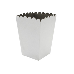 White Popcorn Box (10) 15 x 10cm