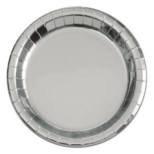 Silver Foil Dessert Plates (8)