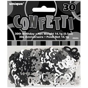 Age 30 Glitz Confetti Black and Silver