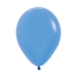 Neon Blue Latex Balloons (5)