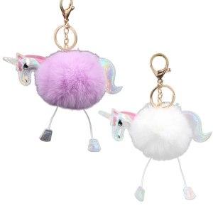 Assorted Fluffy Unicorn Key Chain (1)