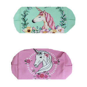 Floral Unicorn Pencil Case (1)