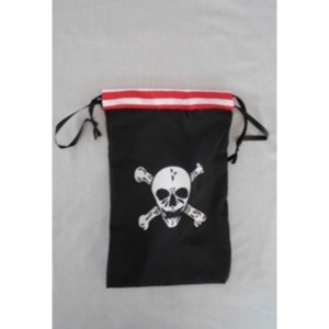 Pirate Party Fabric Loot Bag (Each)