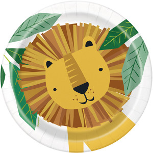 Animal Safari Paper Plates Small (8)
