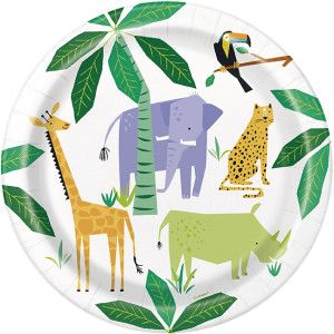 Animal Safari Paper Plates Large (8)