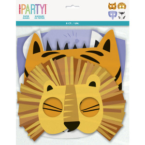 Animal Safari Paper Masks (8)