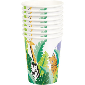 Animal Safari Paper Cups (8)
