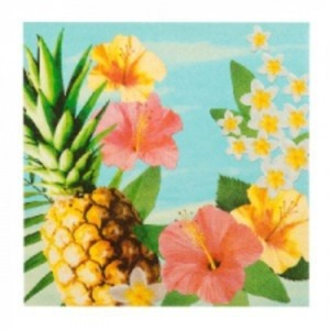 Luau flowers Serviettes (12)