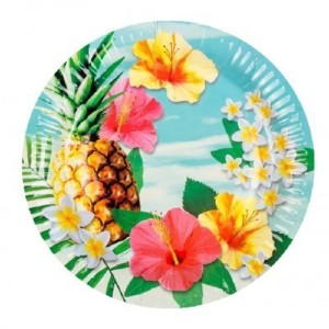 Luau Flowers Plates (6)