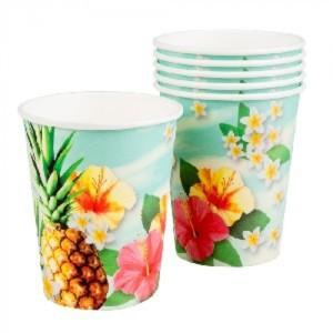 Luau Flowers Paper Cups (6)
