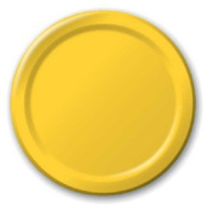 Yellow Paper Plates (8)