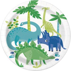 Dinosaur Party Plates Small (8)