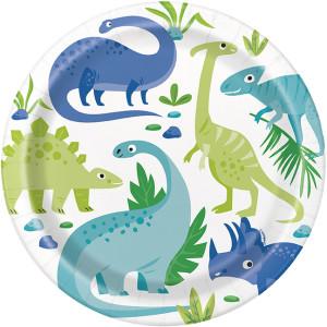 Dinosaur Party Plates Large (8)