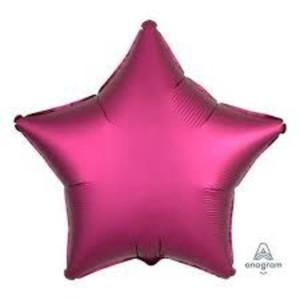 Satin Luxe Pomegranate Star Foil Balloon 18inch
