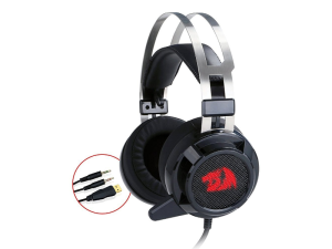 Redragon Siren Red LED USB or 3.5mm Wired Gaming Headset
