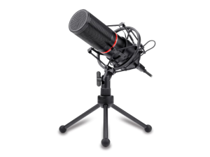 Redragon Blazar Cardioid 1.7m Cable USB Black & Red Tripod Microphone