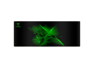 T-Dagger Geometry Large 780mm x 300mm x 3mm Speed Design Black & Green Gaming Mouse Pad