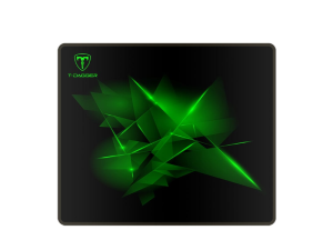 T-Dagger Geometry Medium 360mm x 300mm x 3mm Speed Design Black & Green Gaming Mouse Pad