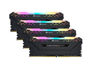 Corsair Vengeance RGB Pro 128GB (4 x 32GB) DDR4-3600MHz CL18 Black Desktop Gaming Memory
