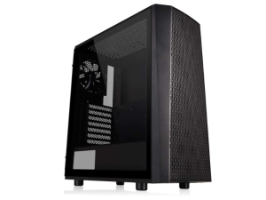 Thermaltake Versa J24 Tempered Glass Black Mid Tower Desktop PC Case