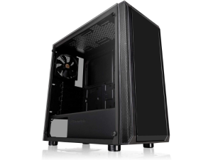 Thermaltake Versa J23 Tempered Glass Black Mid Tower Desktop PC Case