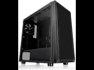 Thermaltake Versa J22 Tempered Glass Black Mid Tower Desktop PC Case