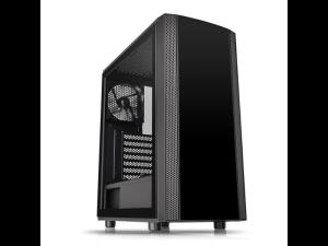 Thermaltake Versa J25 Tempered Glass Edition Black Mid Tower Desktop PC Case