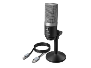 Fifine K670B Cardioid Black USB Condensor Microphone with Stand