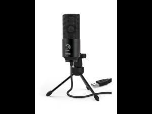 Fifine K669B Cardioid Black USB Condenser Microphone with Tripod