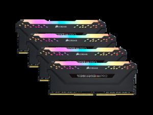 Corsair Vengeance RGB Pro 64GB (4 x 16GB) DDR4-3200MHz CL16 Black Desktop Gaming Memory