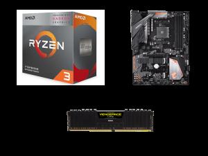 Warp AMD 3200G, Gigabyte B450 Aorus Elite, Corsair Vengeance LPX 8GB 3200MHz PC Upgrade Kit