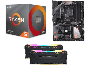 Dark Matter AMD 3600, Gigabyte B450 Aorus Elite, Corsair Vengeance RGB Pro 16GB 3200MHz PC Upgrade Kit