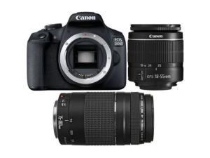 Canon EOS 2000D Digital SLR Camera Double DC Kit