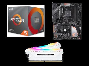 Light Matter AMD 3600, Gigabyte B450 Aorus Elite, Corsair Vengeance RGB Pro White 16GB 3200MHz PC Upgrade Kit