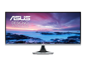 ASUS Designo Curve 34'' MX34VQ Ultra-wide, UWQHD, 3440 x 1440p, 100Hz, Qi Wireless Charger, Harmon Kardon Speakers, Curved Design Monitor