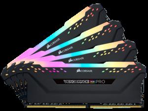 Corsair Vengeance RGB Pro 128GB (4 x 32GB) DDR4-3000MHz CL16 Black Desktop Gaming Memory