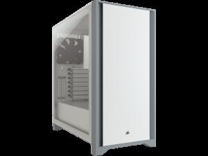 Corsair 4000D Tempered Glass White Mid-Tower ATX Desktop PC Case