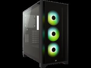 Corsair iCUE 4000X RGB Tempered Glass Black Mid-Tower ATX Case