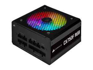 Corsair CX Series CX750F RGB — 750W 80 Plus Bronze Fully Modular PSU