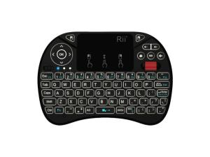 Rii QWERTY RGB Backlighting Media Touchpad with Scroll Wheel - Black