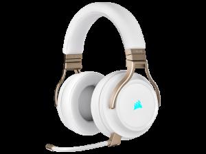 Corsair VIRTUOSO RGB WIRELESS High-Fidelity Gaming Headset — Pearl