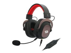 Redragon Zeus 2 USB Virtual 7.1 2m Cable 3.5mm Detachable Omnidirectional Boom Mic 53mm Driver Gaming Headset - Black