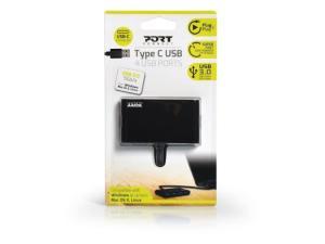 Port USB3.0 to 4 x USB3.0 5Gbps 4 Port Hub - Black