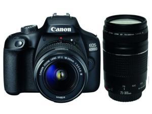 Canon EOS 4000D Twin Lens Bundle