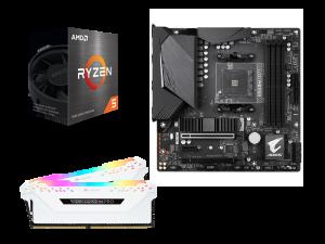 Light Matter V2 AMD 5600X, Gigabyte B550M Aorus Pro, Corsair Vengeance Pro White 16GB DDR4-3200 Upgrade Kit