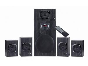 Genius SP-HF5.1 4500 II Wooden Power Speaker Set and Remote
