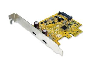 Sunix USB2302C USB 3.0 SuperSpeed Dual-port PCI Express Host Card with Type-C Receptacle