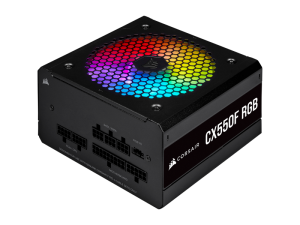 Corsair CX Series CX550F RGB 550W 80 Plus Bronze Certified Fully Modular RGB PSU