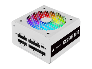 Corsair CX Series CX750F RGB White 750W 80 Plus Bronze Certified Fully Modular RGB White PSU