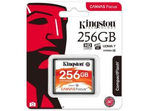 Kingston Canvas Focus Compact Flash Memory Card 256GB for DSLR and Professional Photography Cameras